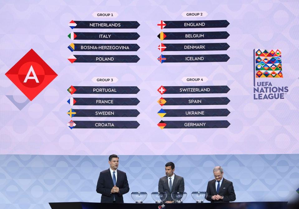 UEFA Millətlər Liqasının püşkü atıldı
