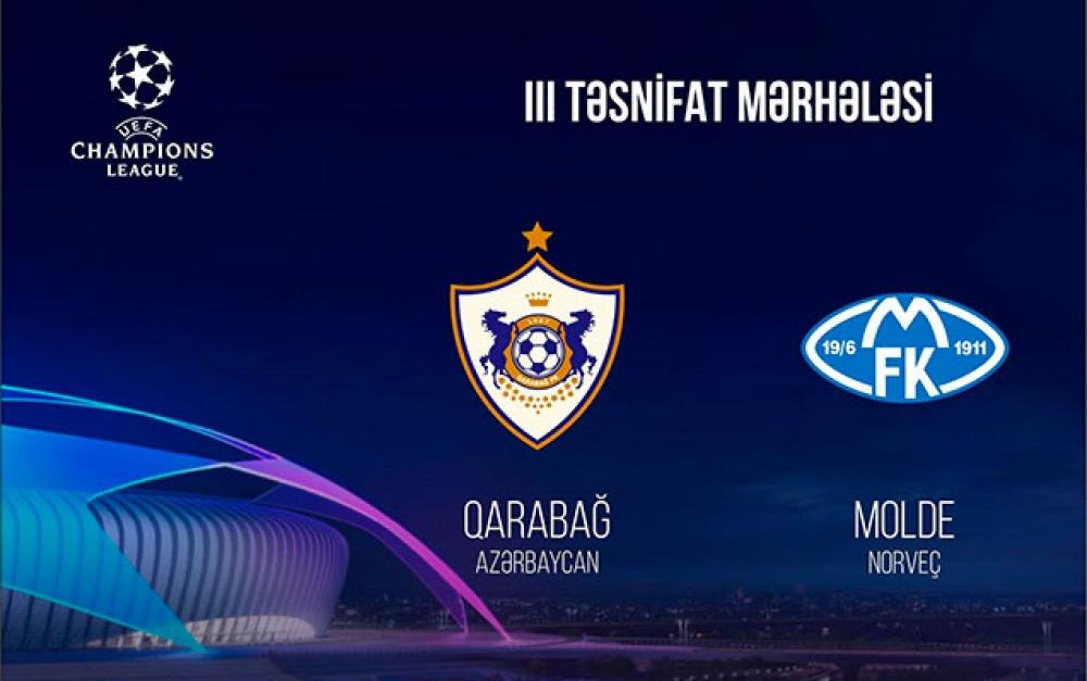 """""""Qarabağ"""" bu gün """"Molde"""" klubu ilə üz-üzə gələcək"""