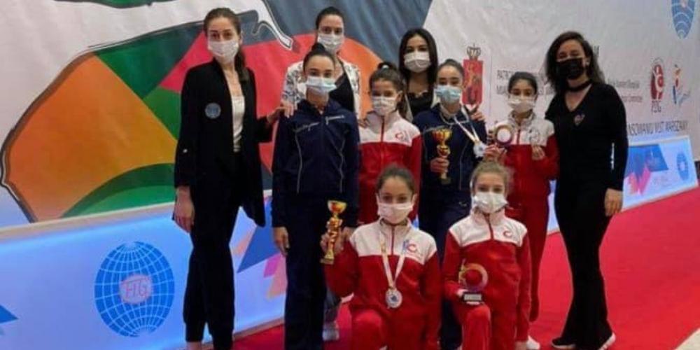 Bədii gimnastlarımız beynəlxalq turniri 3 medalla başa vurublar
