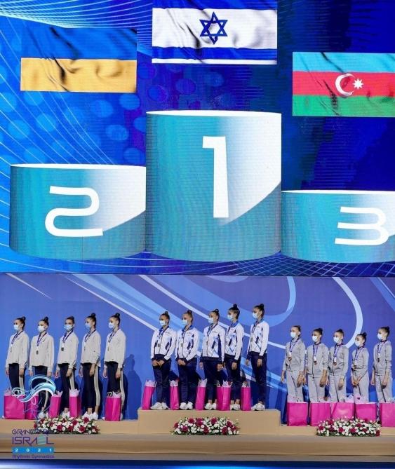 Bədii gimnastlarımız Tokio Olimpiadası ərəfəsində bürünc medala sahib çıxdılar