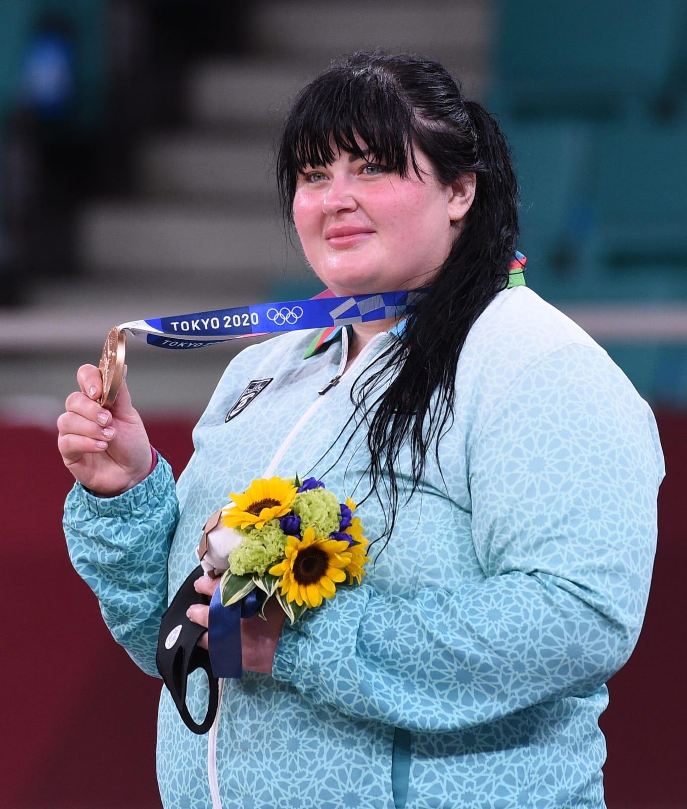 İrina Kindzerska Azərbaycana Tokio-2020-nin ilk medalını qazandırdı - FOTO