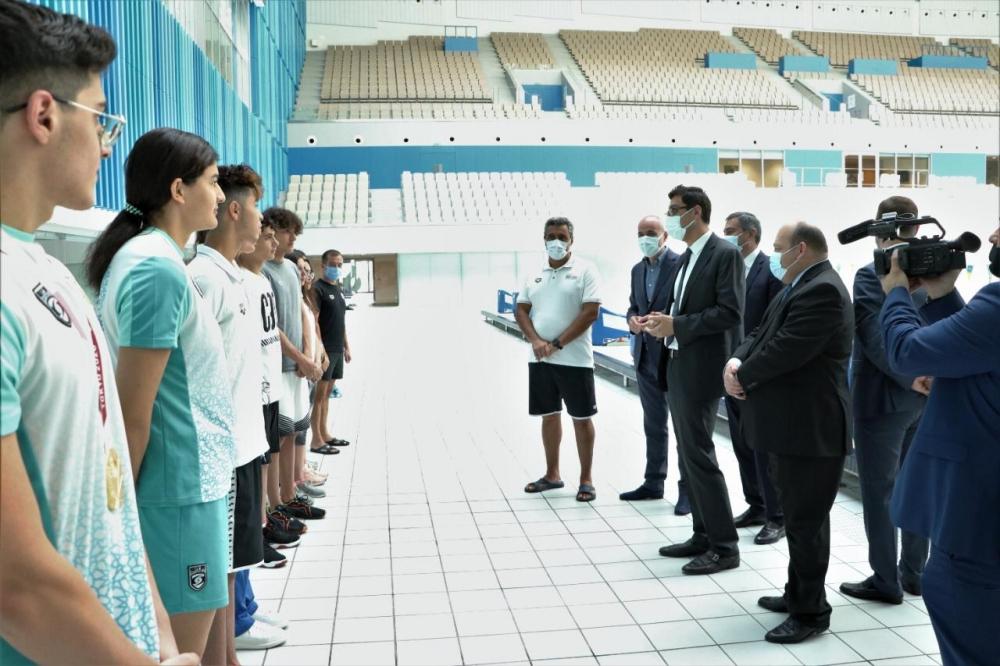 Gənclər və idman naziri Bakı Su İdmanı Sarayında
