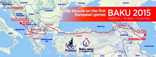 Xorvatiyalı velosipedçilər Türkiyəyə yaxınlaşıblar