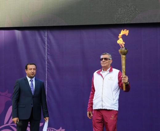 Atletlər Kəndində Azərbaycan Respublikasının və Avropa Olimpiya Komitəsinin bayraqları qaldırılıb