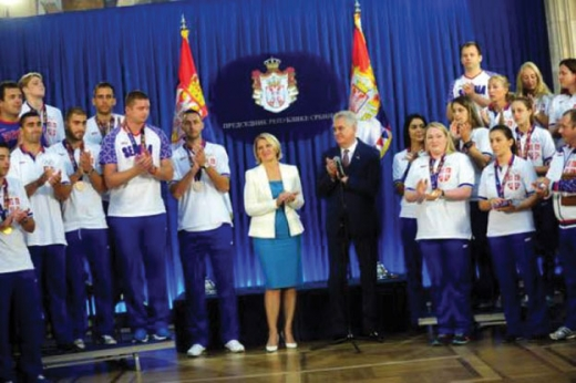 Prezident Tomislav Nikoliç Serbiyanın Bakı-2015-də uğur qazanmış idmançıları ilə görüşüb
