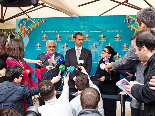 Aleksander Çeferin: «Bakının EURO-2020 üçün hazırladığı loqodan çox xoşum gəldi»