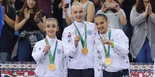 Bədii gimnastlarımız qızıl medala sahib oldular