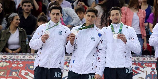 Gimnastlarımız İslamiadanı 20 medalla başa vurublar