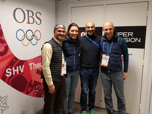 Pxençan-2018: MOK-un əməkdaşı Olimpiya Yayım Xidmətinin rəsmiləri ilə görüşmüşdür