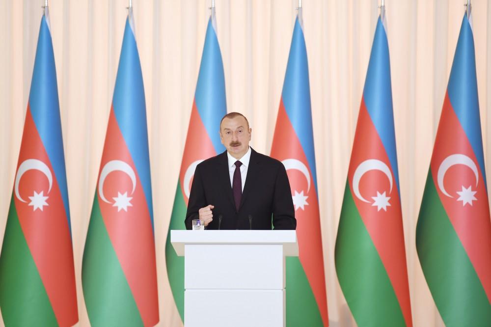 """İlham Əliyev: """"Bu gün müstəqil Azərbaycan hər bir Azərbaycan vətəndaşı üçün qürur mənbəyidir"""""""
