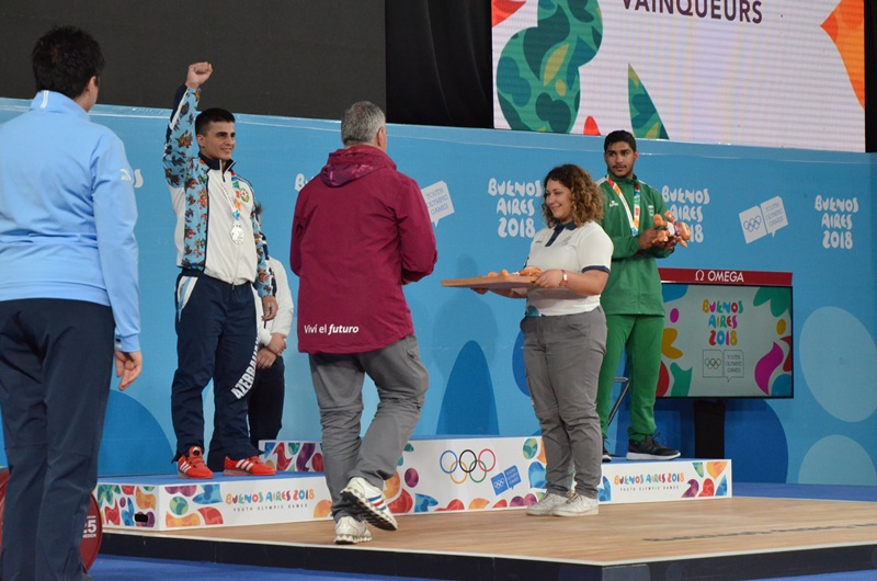 Atletimiz Yeniyetmələrin III Yay Olimpiya Oyunlarının gümüş medalını qazanıb - Video