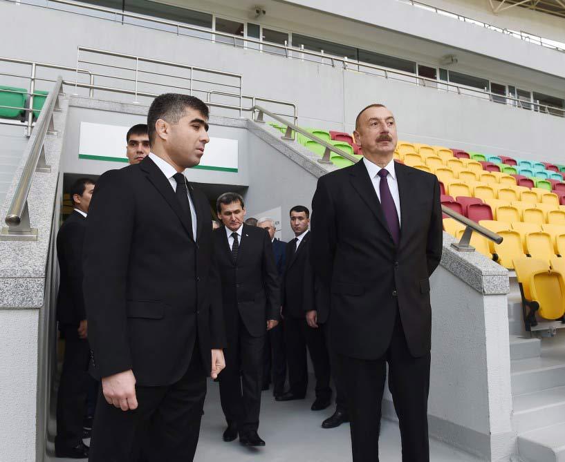 Prezident İlham Əliyev Aşqabadda Olimpiya Kompleksi ilə tanış olub