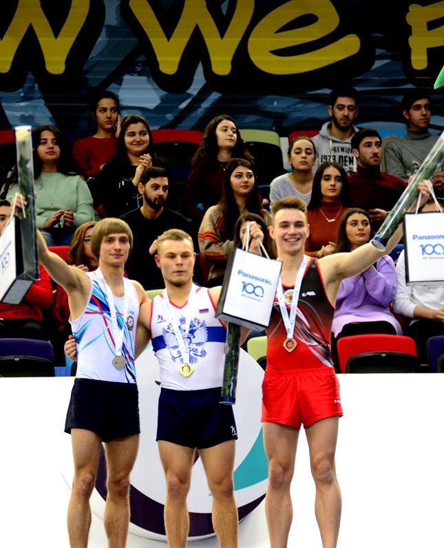 Batut gimnastikası və tamblinq üzrə ilin ilk Dünya Kuboku yarışı fotolarda - BAKI-2019