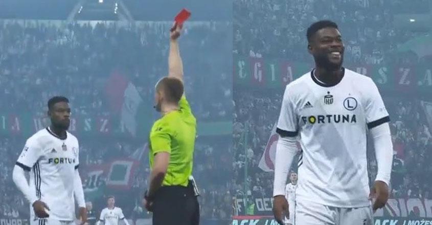 Hakim futbolçunu «ələ saldı» - VİDEO