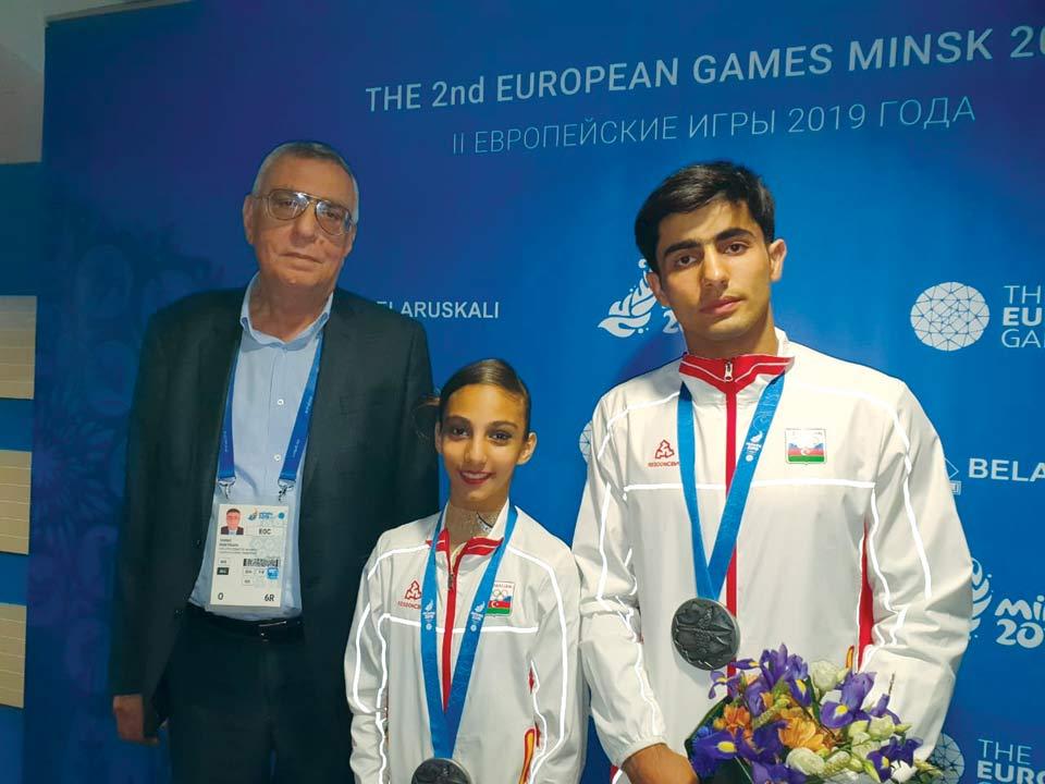 MOK-un vitse-prezidenti Minsk-2019-da ilk medalları qazanan atletlərimizlə görüşüb
