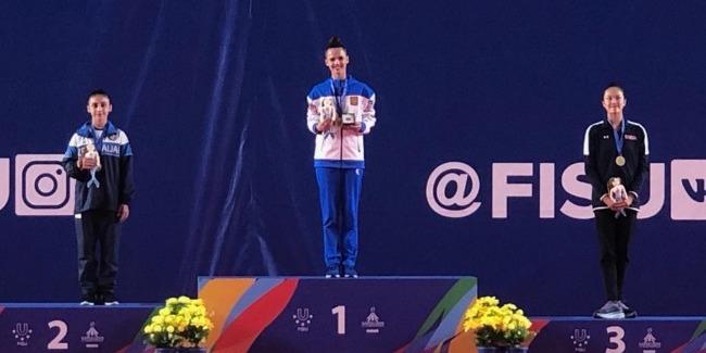 Gimnastlarımız FİSU-nu 1 qızıl, 2 gümüş medulla başa vurdular