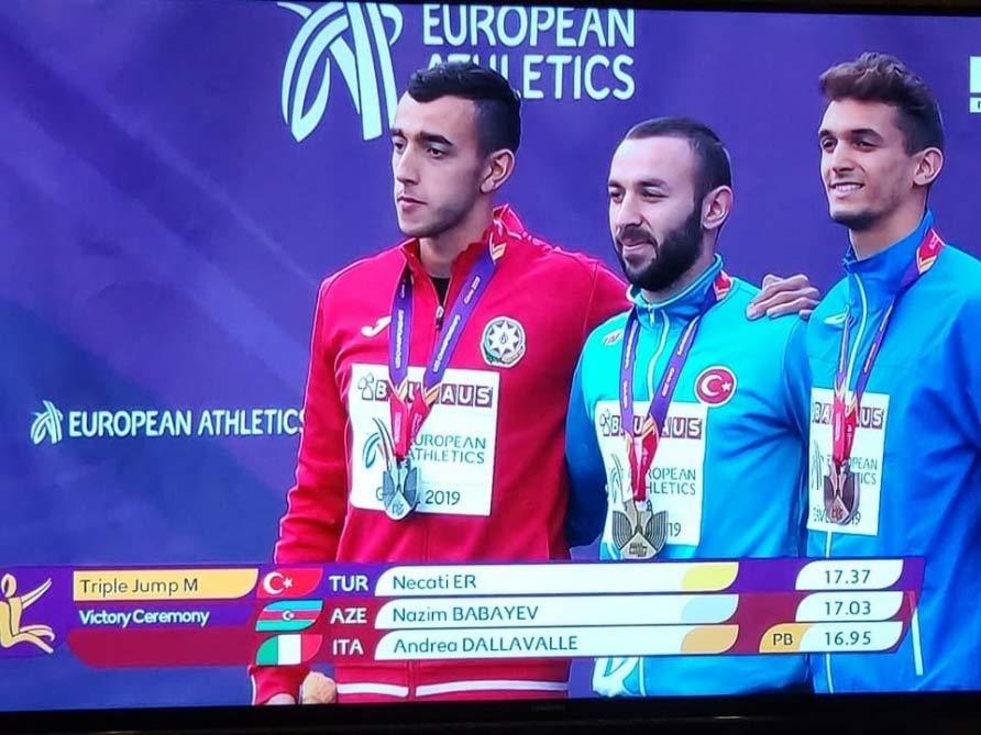 Nazim Babayev Avropa çempionatında gümüş medal qazandı