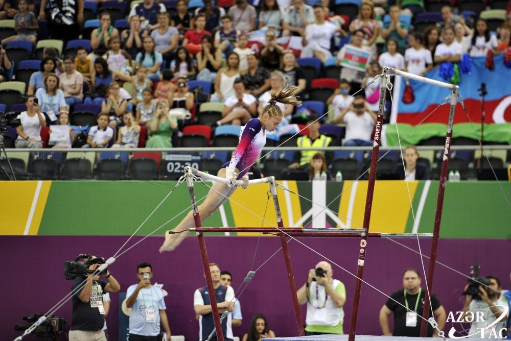 Gimnastımız təsnifat yarışlarında çıxışını başa vurub