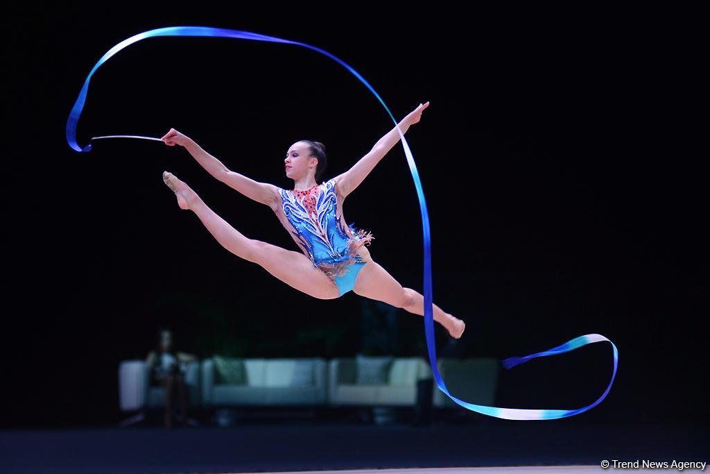 Gimnastlarımız dünya kuboku yarışında mübarizə aparıblar