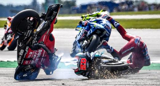 İtaliyalı məşhur motosikletçi Qran-pri zamanı ağır qəza törədib