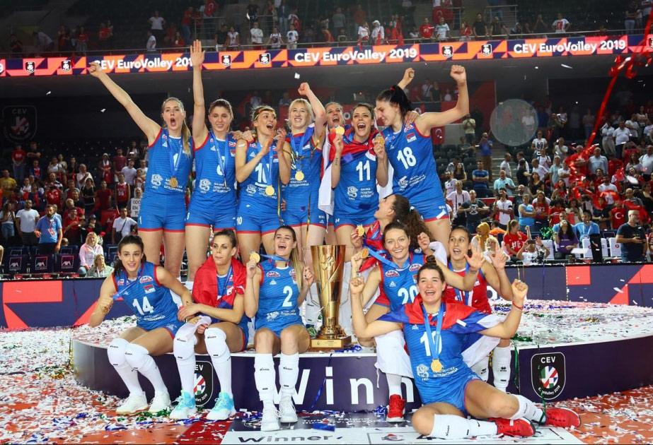 Serbiya millisi ikinci dəfə Avropa çempionu oldu