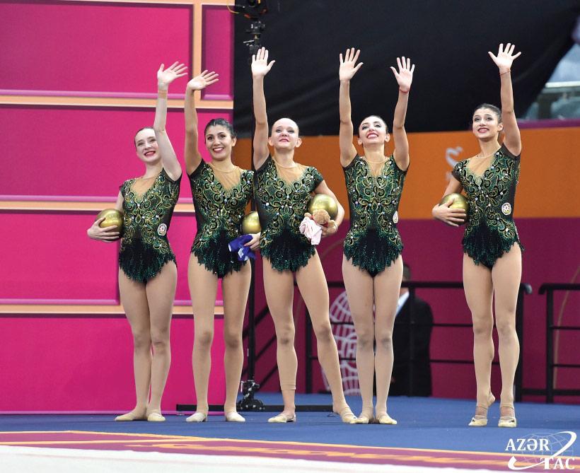 Bakıda keçirilən bədii gimnastika üzrə dünya çempionatına yekun vurulub