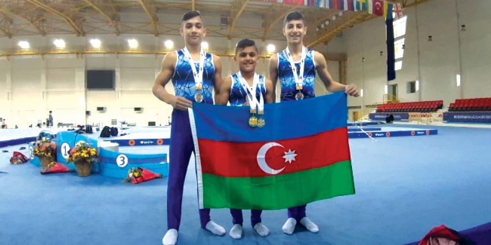İdman gimnastlarımız Tbilisidə uğurla çıxış ediblər