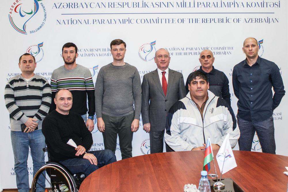 MPK-nın prezidenti İlqar Rəhimov paralimpiyaçılarla görüşüb