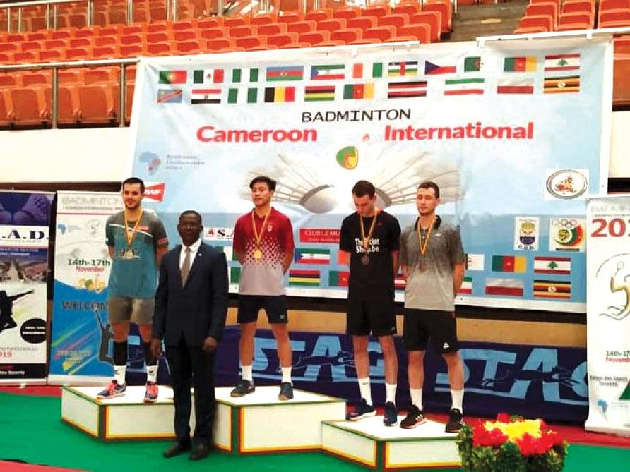 Badmintonçumuz Kamerunda birinci oldu