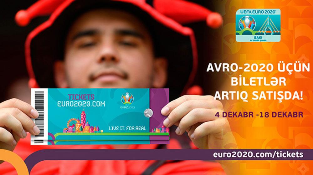 Avro-2020-nin biletləri satışda
