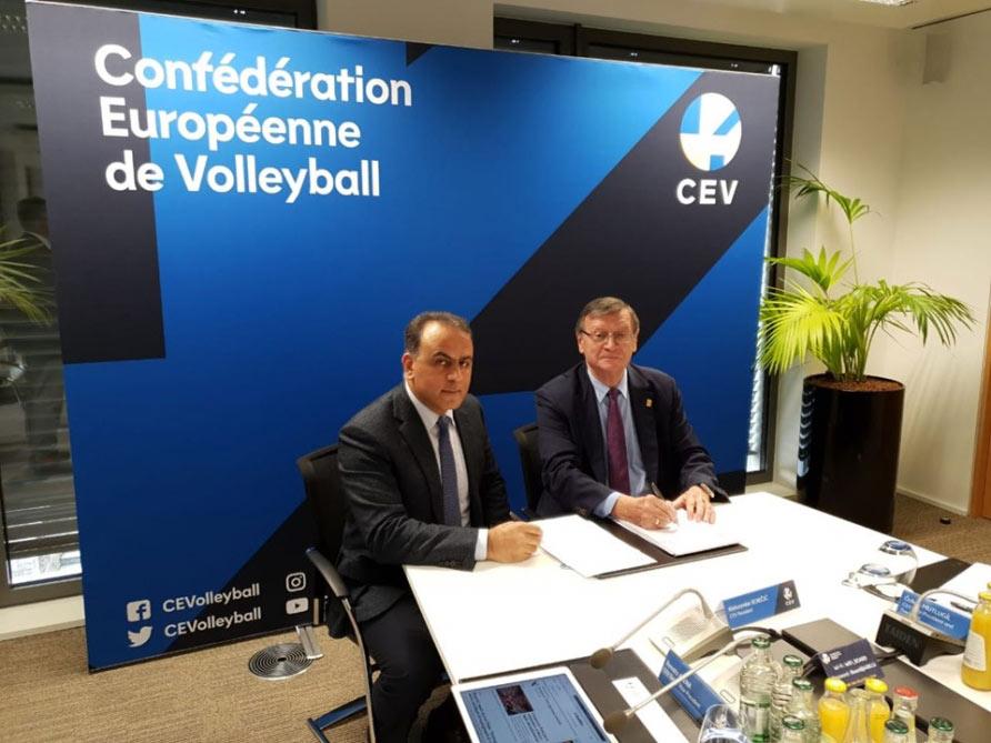 Azərbaycan Voleybol Federasiyası ilə Avropa Voleybol Konfederasiyası arasında müqavilə imzalanıb