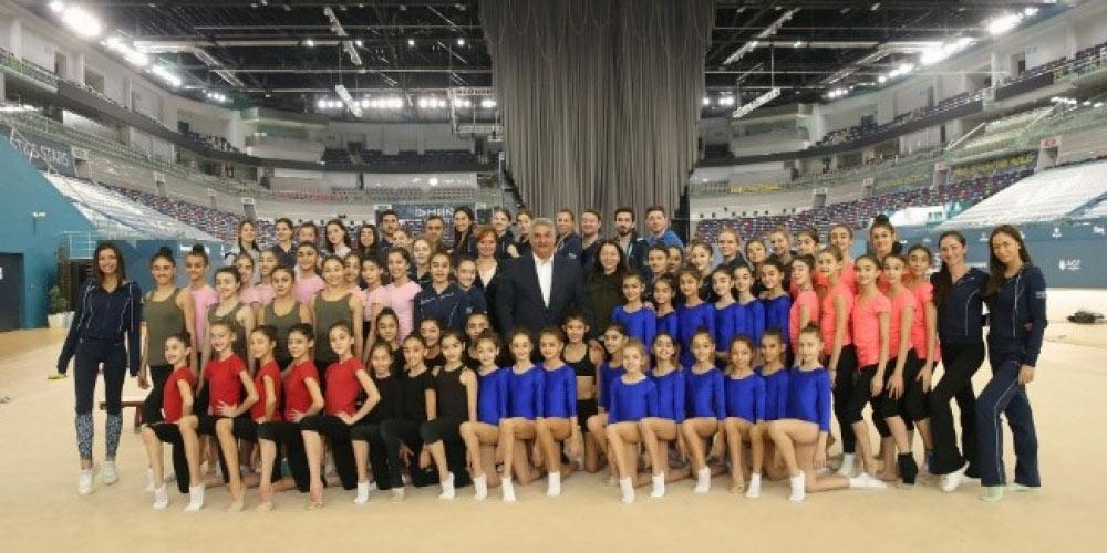 Gənclər və idman naziri Milli Gimnastika Arenasında